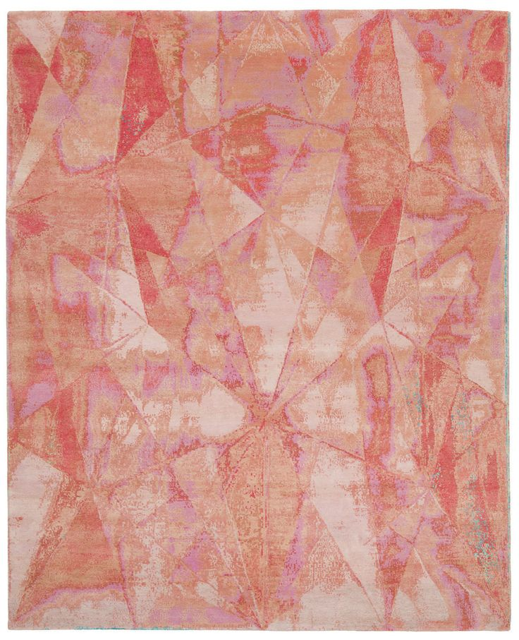 Contemporary Rug / Silk / Wool / Patterned ANGLES 4 JAN KATH   Contemporary  Rug Art