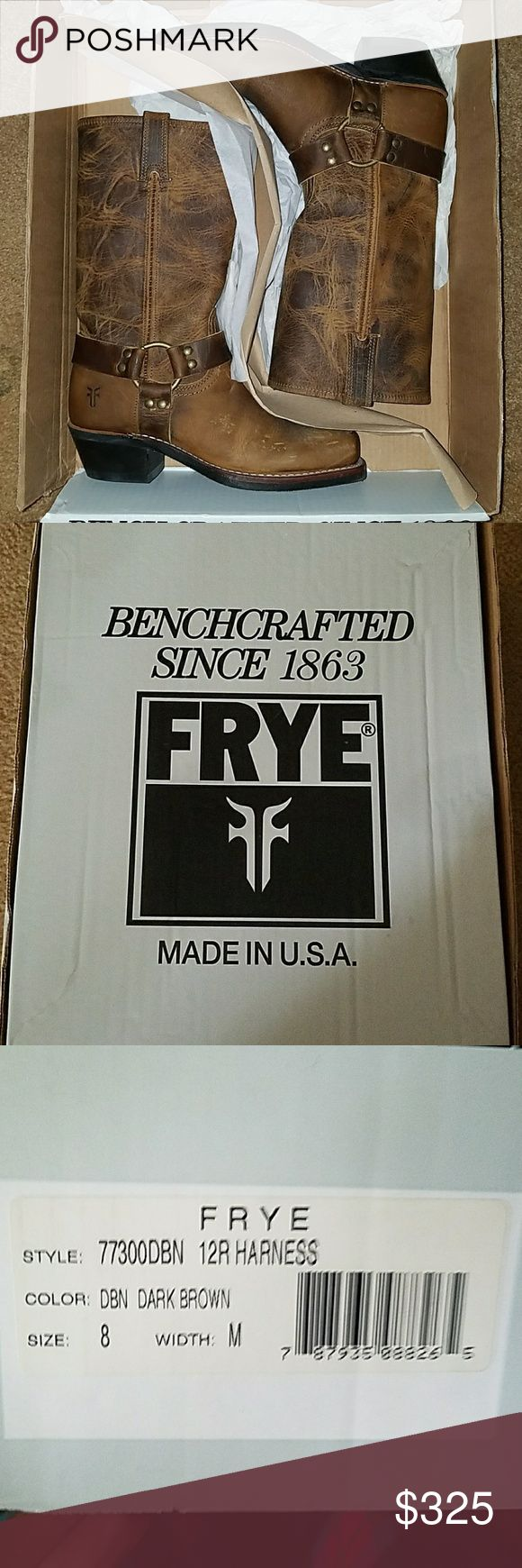 FRYE harness boots Brand new... never worn Frye Shoes Combat & Moto Boots