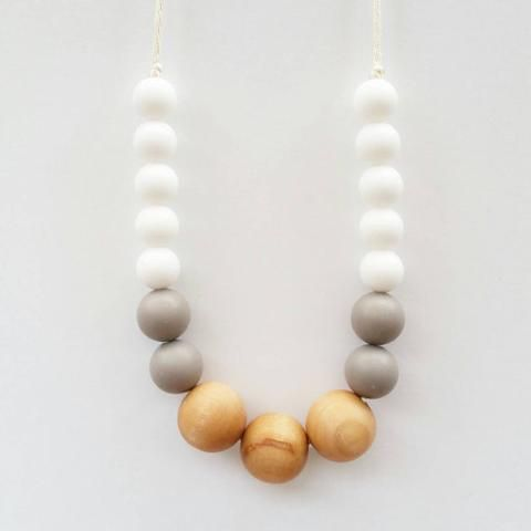 Naturalist Wood & Silicone Teething Necklace