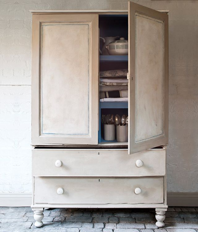 annie sloan painted this linen press in thick chalk paint coats of rh pinterest com