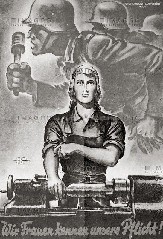 531 best AFFICHES WWII NAZIS PROPAGANDE images on ... Nazi Women Propaganda