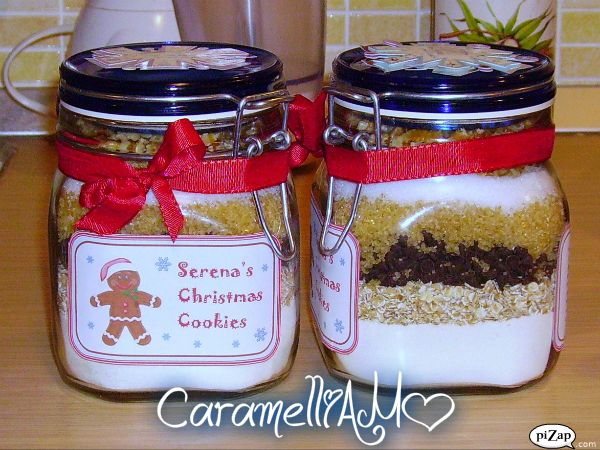 CaramelliAMO: Christmas Cookies in a jar (Biscotti di Natale in barattolo)