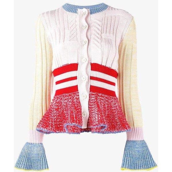Alexander Mcqueen Alexander Mcqueen Peplum Cardigan ($1,395) ❤ liked on Polyvore featuring tops, cardigans, flare tops, long sleeve tops, pink peplum top, cardigan top and alexander mcqueen tops