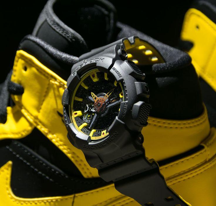 """Mattschwarze G-Shock GA-110BY-1AER von Casio mit Double-Layer Armband aus der """"Black & Yellow"""" Serie - solekitchen.de   Solekitchen – Sneakerstore Chemnitz"""