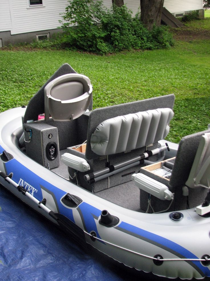 Intex excursion 5 inflatable mod the hull truth for Fishing kayak mods