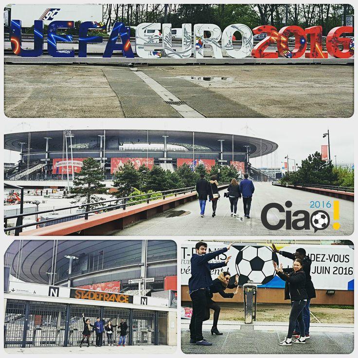 A 29 días del comienzo de la #Eurocopa2016, el equipo Ciao ya ha hecho una primera visita al Stade de France, antes de que suene el pitido inicial.  ¡Ya estamos preparados y apenas podemos aguantarnos las ganas de ver los partidos de la selección española!