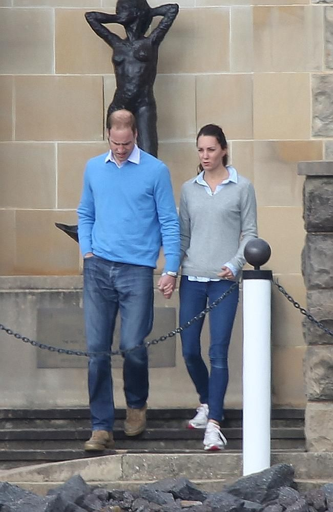 Getting around in jeans and sneakers on a rare day off in Canberra. Picture: News Corp Au 21 April 2014