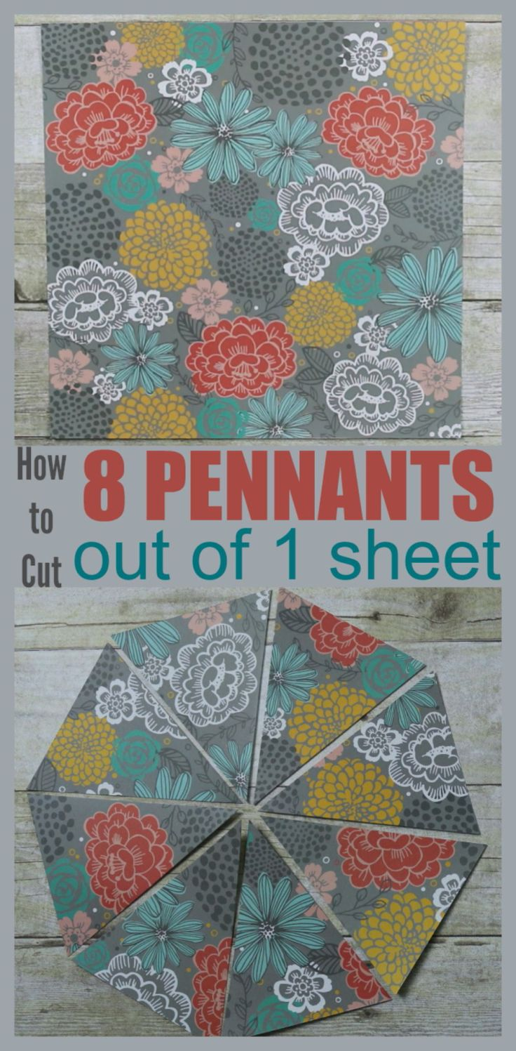 Scrapbook paper vs cardstock - How To Cut 8 Pennants Out Of 1 Sheet Scrapbook Patternspattern Paperfabric