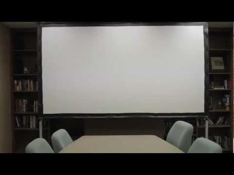 Video portable projector screen - Outdoor screen projector yang mudah dilipat dgn cepat