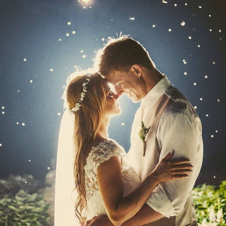 True love is when you see the stars in her eyes.