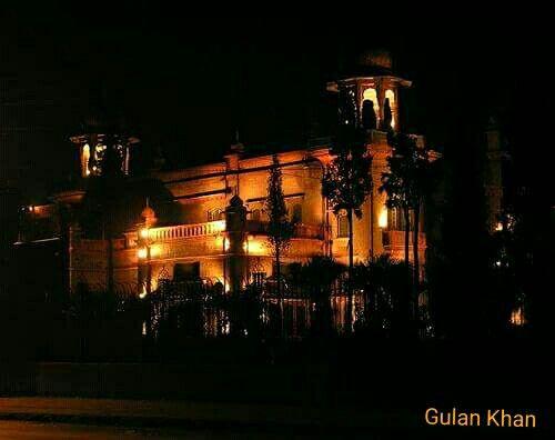 Awesome night beauty view of Peshawar museum Khyber Pakhtunkhwa Pakistan
