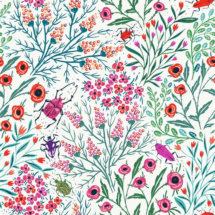 Summer Pattern Background Art Cute Illustration