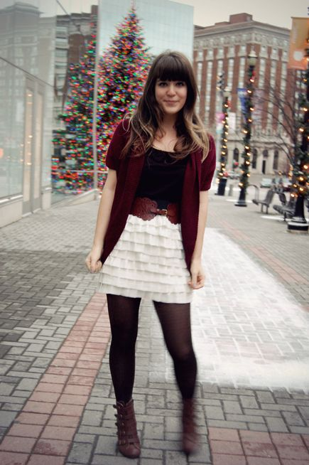 adorable christmas party outfit via selective potential