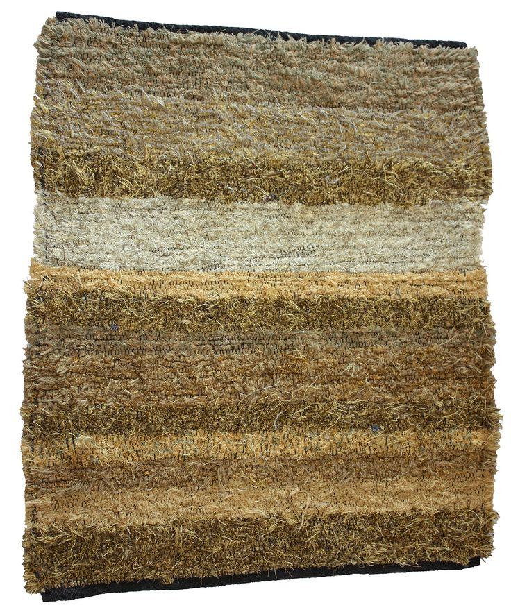 """Handmade Artisan Woven Rug 28 x 32.5"""". This rug is woven by me in my Michigan studio. It is made of upholstery fabric selvedges from the furniture mills down south. This rug is a variety of golds, beige and rust and sage green. They are very durable as they are the same material as couchs and chairs are covered with. Machine wash and dry. They are quite thick, may not work in front of a door. Great for any floor, wood, tile, or on carpet. Great for living room, den, kitchen, bath. They…"""