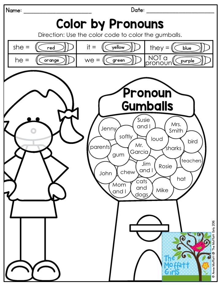 Free Printable Graphing Worksheets Top  Best Pronoun Activities Ideas On Pinterest  Pronoun Words  Multiplication Table Worksheet 1-12 Excel with Cub Scout Worksheets Excel Color By Pronouns Pronoun Gumballs Are Such A Fun Way To Practice Nd  Grade Grammar Adding One Digit Numbers Worksheets Word