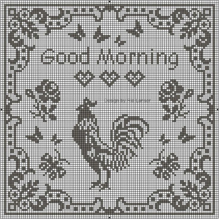 Rooster Cross Stitch Patterns | Free Cock-a-Doodle-Doo Cross-Stitch Pattern