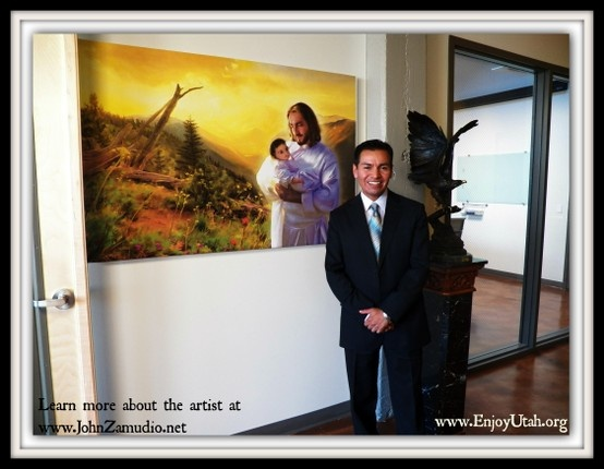 John Zamudio, a famous Latino Christian painter, had his American debut in Salt Lake City