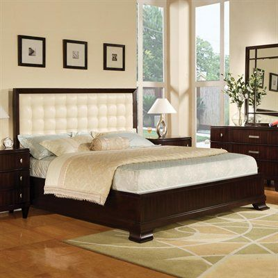 """Vinings Upholstered Panel Bed  Vinings is an eclectic use of contemporary design elements and modern lines. This collection features a mix of knob and handle hardware in a silver finish. Includes:   Headboard:   Queen: Width: 65"""" - Height: 52"""" - Thickness: 2"""" King: Width: 81"""" - Height: 59"""" - Thickness: 2""""  Footboard:  Queen: Width: 67"""" - Height: 26"""" - Thickness: 9.75"""" King: Width: 83"""" - Height: 26"""" - Thickness: 10"""" Rails:   Queen: Width: 6"""" - Height: 17.5"""" - Length: ..."""