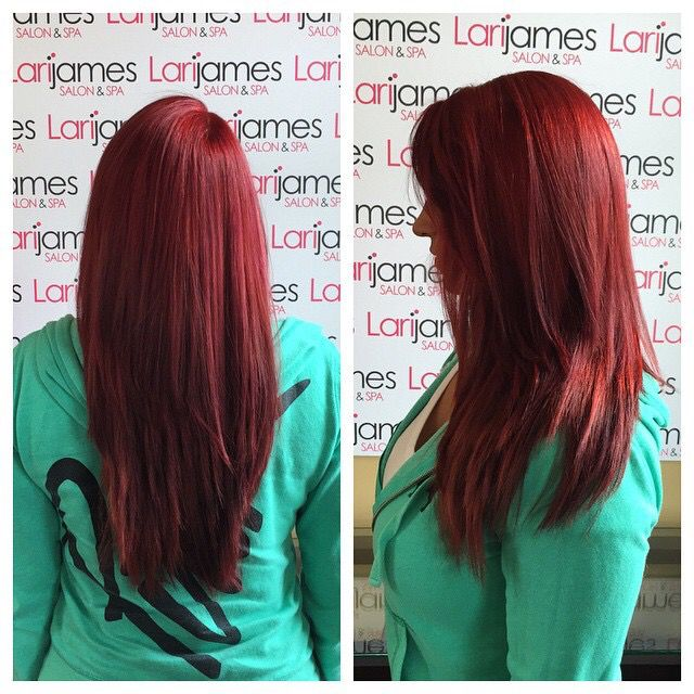 Vibrant red 7RR MAX and 6R Colorance Goldwell   Hair ...