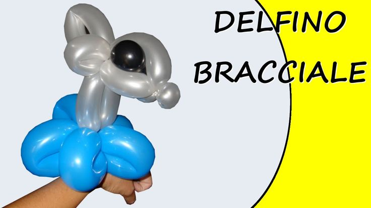 Video tutorial on how to make a dolphin bracelet with balloons twisting #dolphin #bracelet