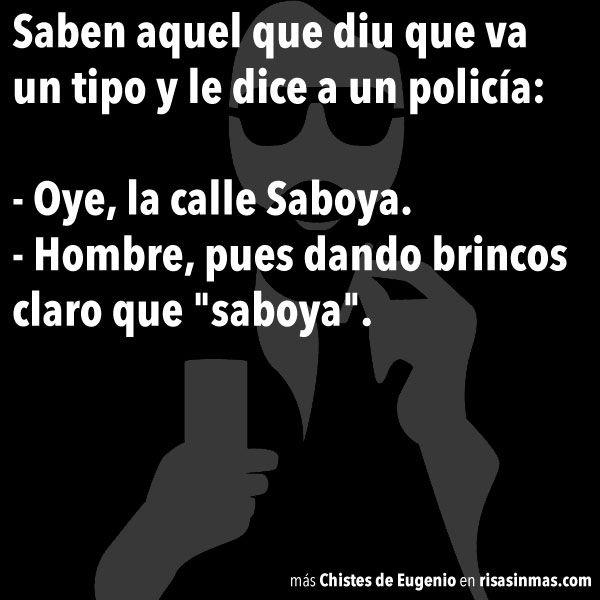 Chistes de Eugenio: Calle Saboya