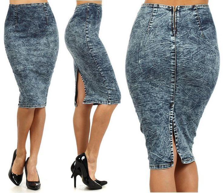 Denim pencil skirt dark wash – Modern skirts blog for you
