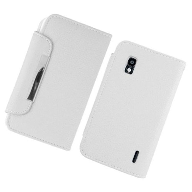 Insten Leather Case Cover with Stand/Wallet Flap Pouch/Photo Display For LG Google Nexus 4 E960 #2361124