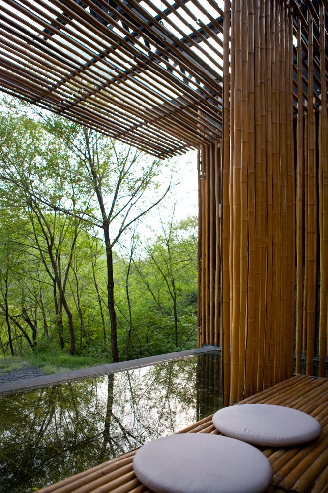 Bamboo House, Commune by the Great Wall. Architect: Kengo Kuma