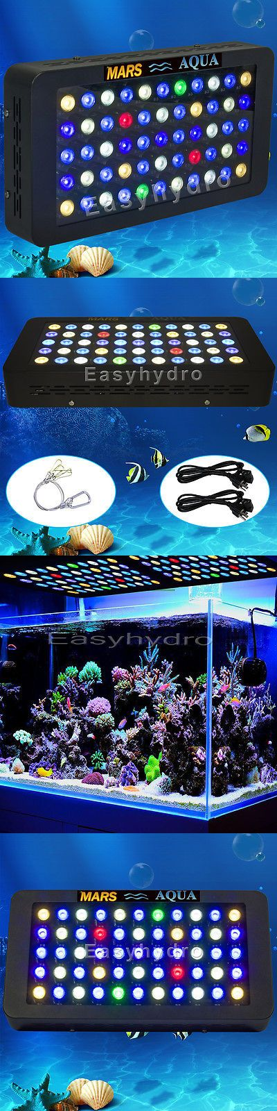 Animals Fish And Aquariums: Dimmable165w Led Aquarium Light Full Spectrum For Live Fish Tank Reef Coral Lamp BUY IT NOW ONLY: $94.98