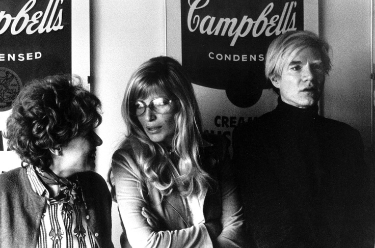 Dacia Maraini, Monica Vitti, Andy Warhol, 1973 Courtesy Elisabetta Catalano Foto di Elisabetta Catalano