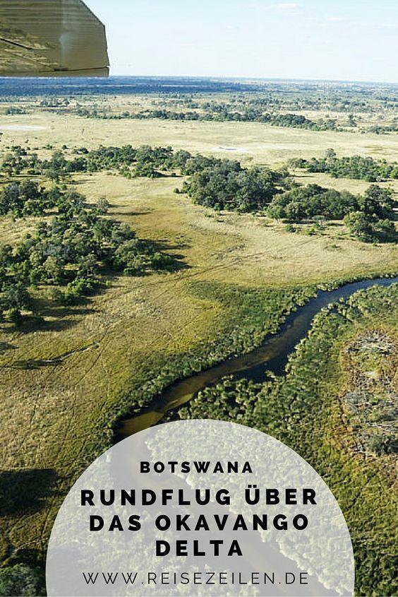 Mit der Cessna über das Okavango Delta - erst von oben erkennt man die wundervolle Landschaft so richtig. #Afrika #Botswana