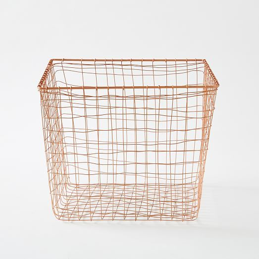 Wire Mesh Basket, Copper, Large