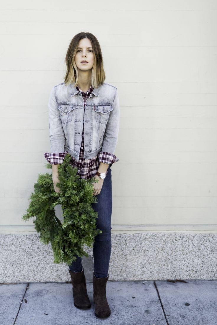 Счастливых праздников носить джинсы Levi's, стиль блога Мишель Мэдсен