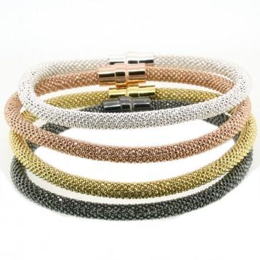 Sterling Silver Laser Snake Bracelet, $119