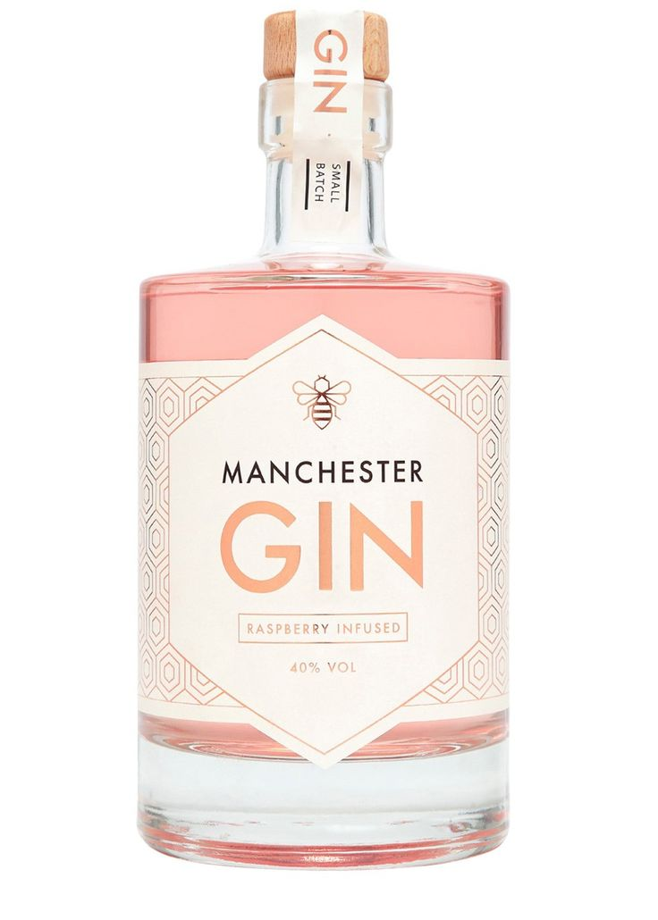 Manchester Gin - Raspbery Infused Gin  Manchester Gin is a small batch premium gin which was launched in 2016. With a true nod to its namesake city, the recipe has incorporated local and northern flavours and botanicals such as dandelion and burdock root, to make an easy drinking yet flavoursome craft gin. Traditionally distilled using 'Wendy' - the bespoke-made copper still of Manchester Gin - this handcrafted expression beautifully straddles the line between classic and contemporary.