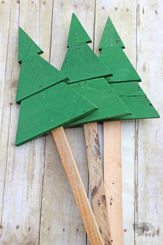 Christmas Tree Yard Stakes Outside Christmas Decorations Lawn Art Porch Decorations Set Of 3 Free Personalization In 2020 Outdoor Christmas Decorations Outside Christmas Decorations Christmas Tree Yard Stakes