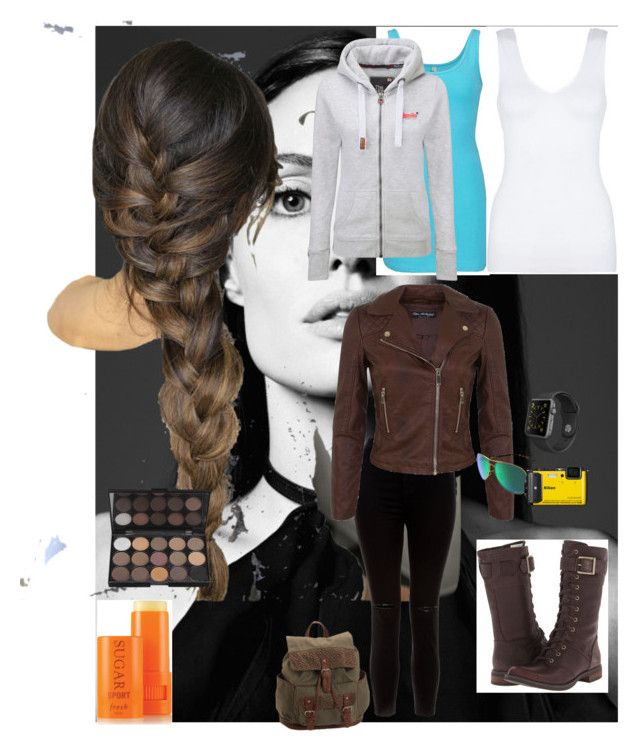 """""""Adventure Girl"""" by leanne-laird on Polyvore featuring Timberland, BKE core, Superdry, New Look, Aéropostale, Hanro, Miss Selfridge, Apple, Oakley and Fresh"""