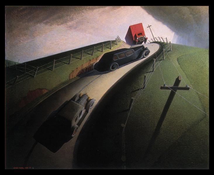 Death on the Ridge Road - Grant Wood 1935