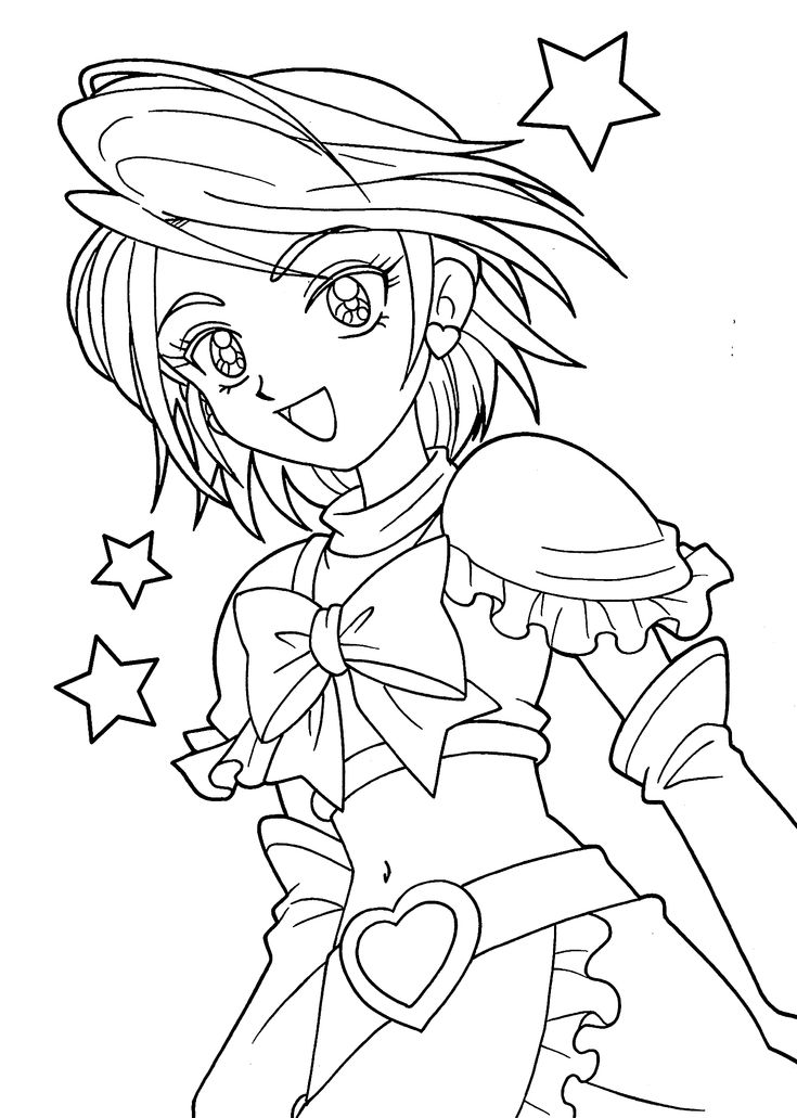Pretty cure coloring pages for girls, printable free