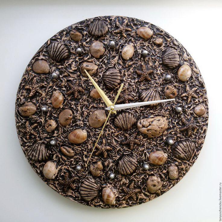 Clock with shells | Купить Настенные часы Морское дно - настенные часы, настенные часы купить, часы настенные