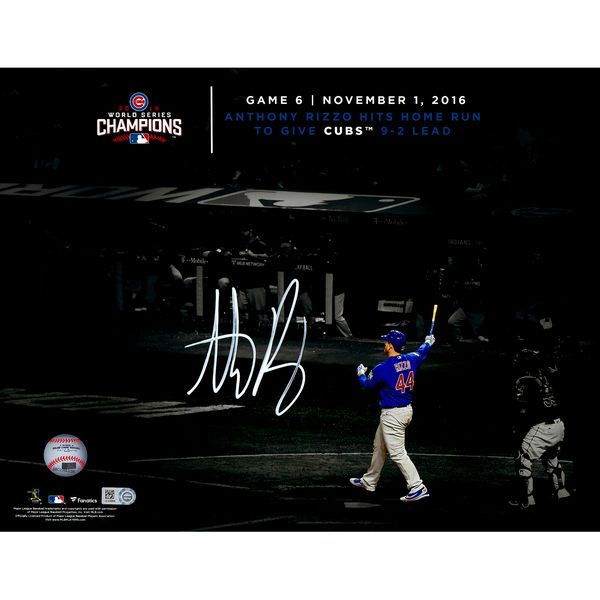 "Anthony Rizzo Chicago Cubs Fanatics Authentic 2016 MLB World Series Champions Autographed 11"" x 14"" World Series Spotlight Photograph"