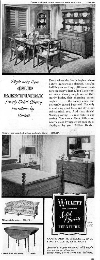 Style note from OLD KENTUCKY Lovely Solid Cherry Furniture by Willett | by spuzzlightyeartoo
