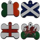 Engraved Pet ID Tags FLAG Bone Shape Dog Disc Disk Puppy Engraved & Post Inc.
