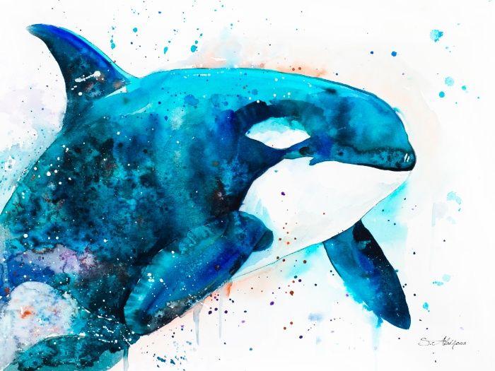 Orca Art Print by Slaveika Aladjova