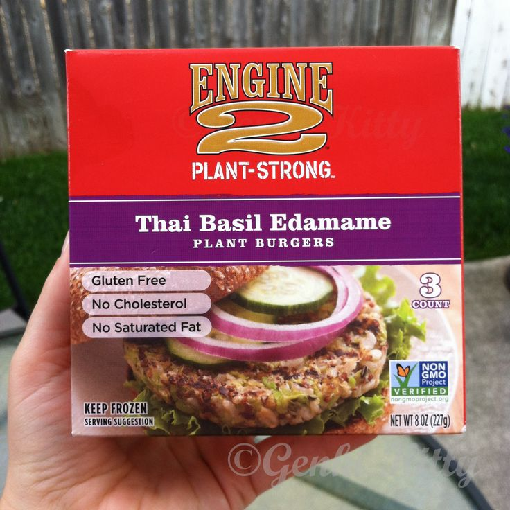 Engine 2 Diet Vegan Burger: Thai Basil Edamame.