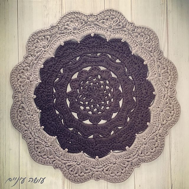 Best 25+ Crochet Doily Rug Ideas On Pinterest