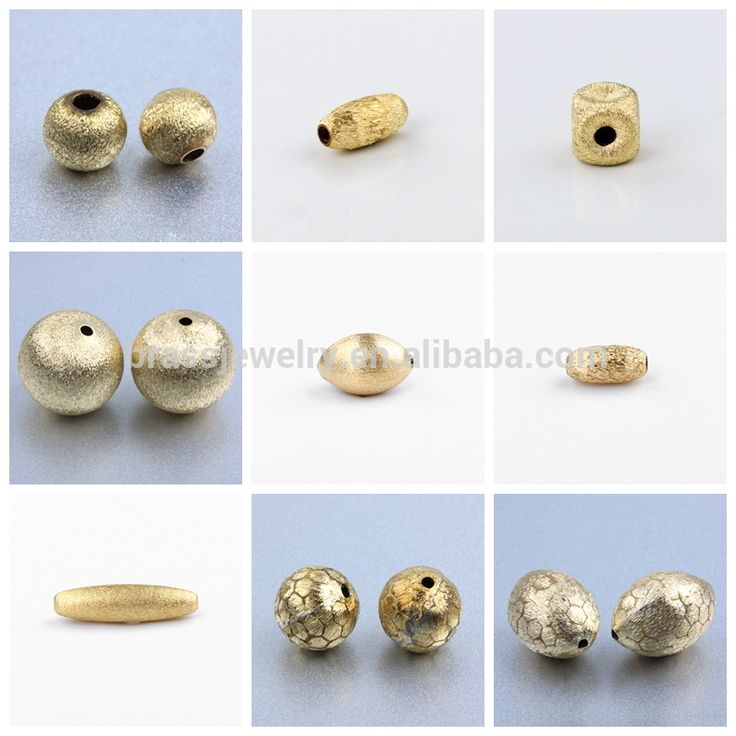 Yiwu Factory Brass Brushed Beads For Jewellery Making