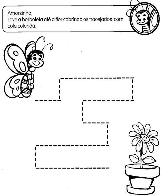 ATIVIDADES COM TRACEJADO PARA MATERNAL - SÓ ESCOLA