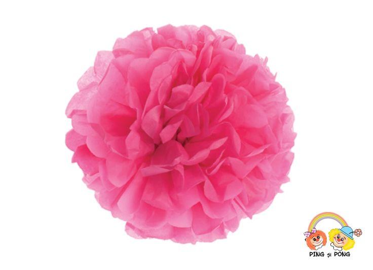 Pom-Pom roz 30 cm