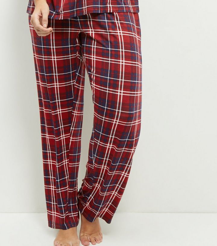 http://www.newlook.com/row/womens/clothing/nightwear/curves-blue-check-pyjama-bottoms/p/385703449